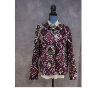 City Blues by Koret Purple Gold Jacket Blazer L